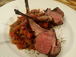 Easy Rack of Lamb and Ratatouille