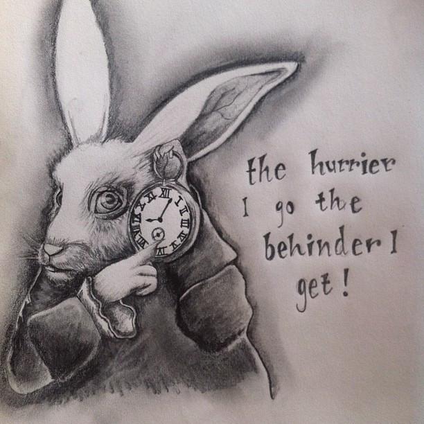 ארנב ממהר כמשל לחשיבות הזמן