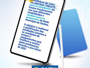 Cairu: Prefeito Hildécio Meireles autoriza compra de TABLETS para estudantes e professores