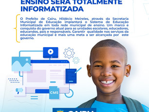 Cairu: Rede municipal de ensino será totalmente informatizada