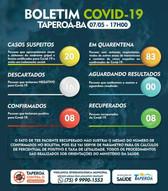 Taperoá: Mais um paciente está recuperado do Coronavírus
