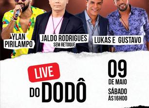 Live do Dôdô vai reunir vários artistas dia 09 de maio