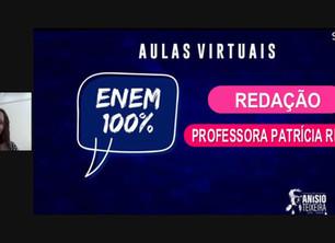 Estudantes baianos revisam conteúdos de Redação em aulão virtual do projeto ENEM 100%