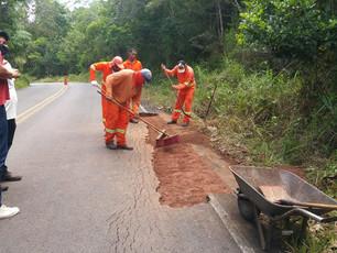 Parceria entre Seinfra e prefeitura de Cairu promove melhorias na estrada Cairu-Nilo Peçanha