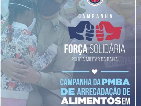 Polícia Militar lança campanha de doação de alimentos em toda a Bahia