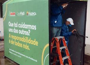 Grupo Ramiro Campelo doa túneis de desinfecção para Valença