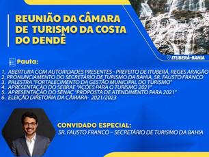 ITUBERÁ: Câmara de Turismo da Costa do Dendê vai eleger nova diretoria