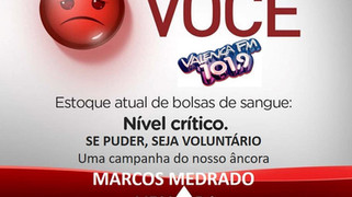 Marcos Medrado promove campanha de incentivo a doação de sangue