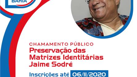 Chamamento Público - Preservação das Matrizes Identitárias Jaime Sodré abre inscrições