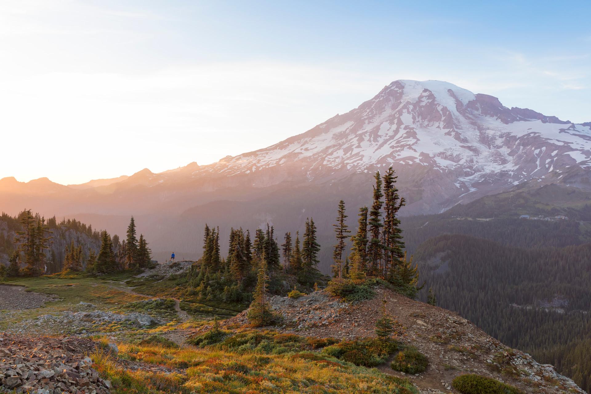 Mt. Rainier in the Sun