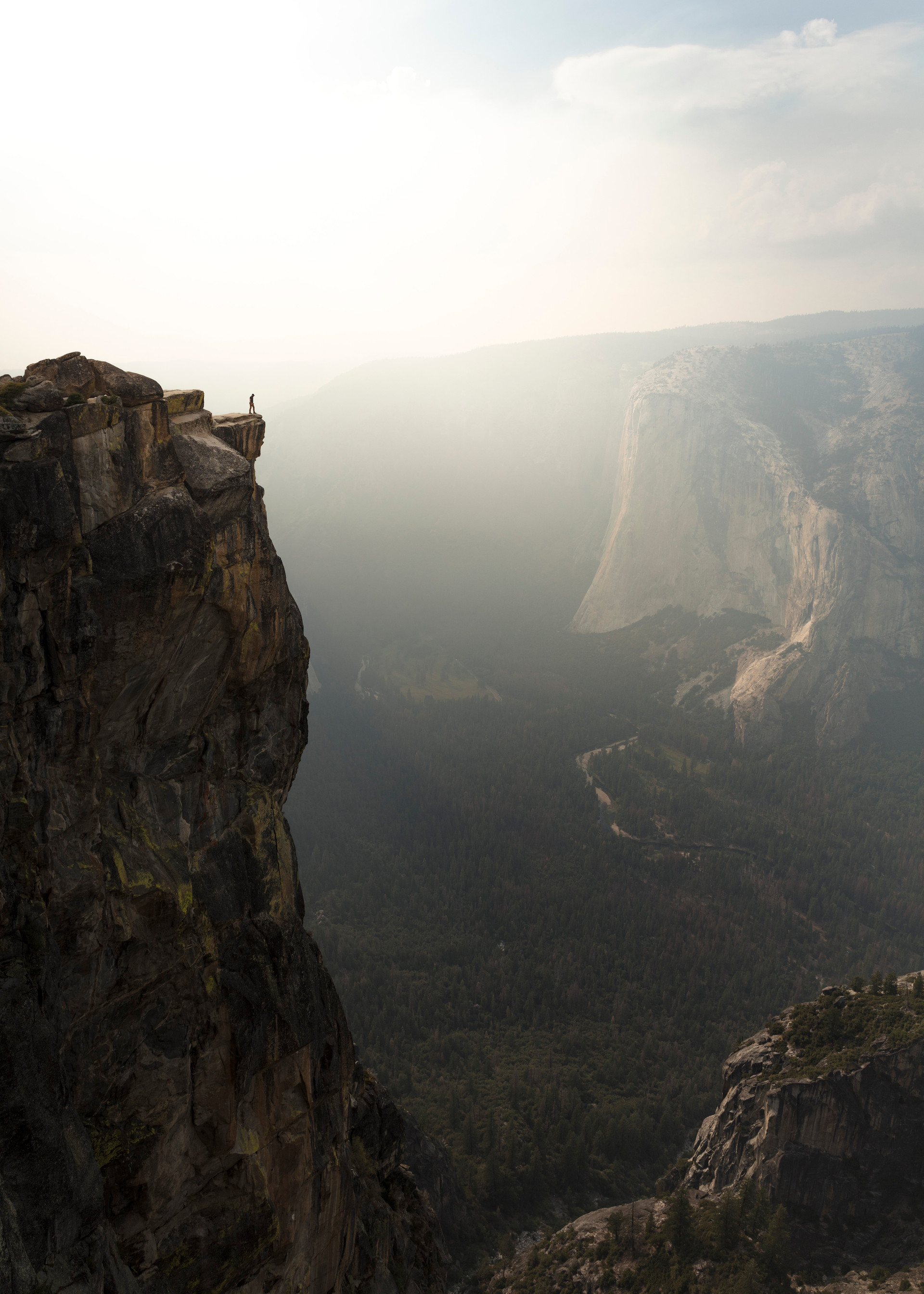 Don't look down to Yosemite Valley...
