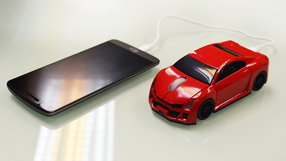 TT-8336 -	Car Design Mouse with Power Bank