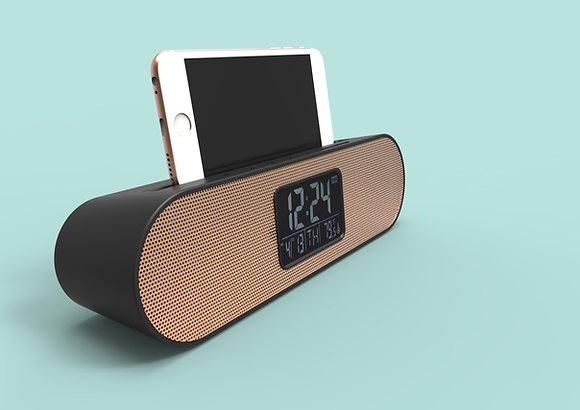 TT-8512 Bluetooth Speaker Alarm Clock with Phone / Tablet holder