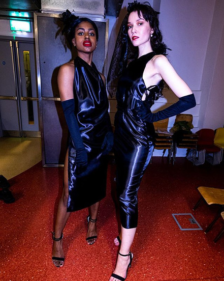 Lakkaya and Anna. Opulence show. RED designs. Photo taken by Dibble