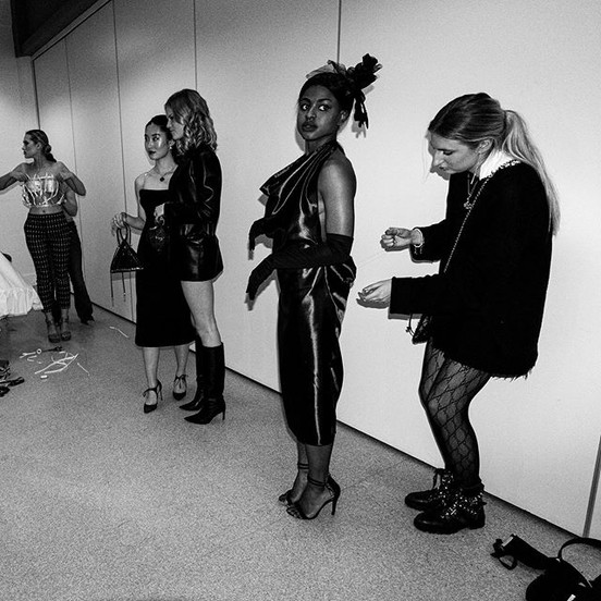 BTS. Opulence show. RED designs. Photo taken by Dibble