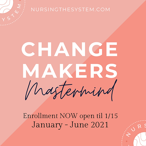 Change Makers Mastermind - 6 Month Membership
