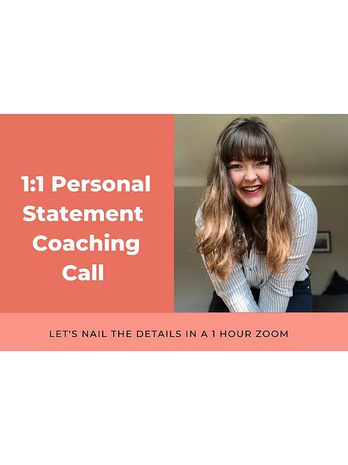 1:1 Personal Statement Workshop - 1 HOUR