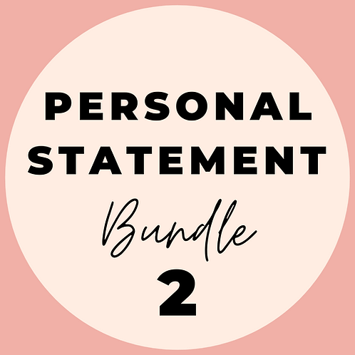 Personal Statement Bundle 2 (1 hour of coaching)