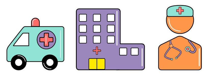 Ambulance, Emergency Department/Hospital, Healthcare Provider with Stethoscope