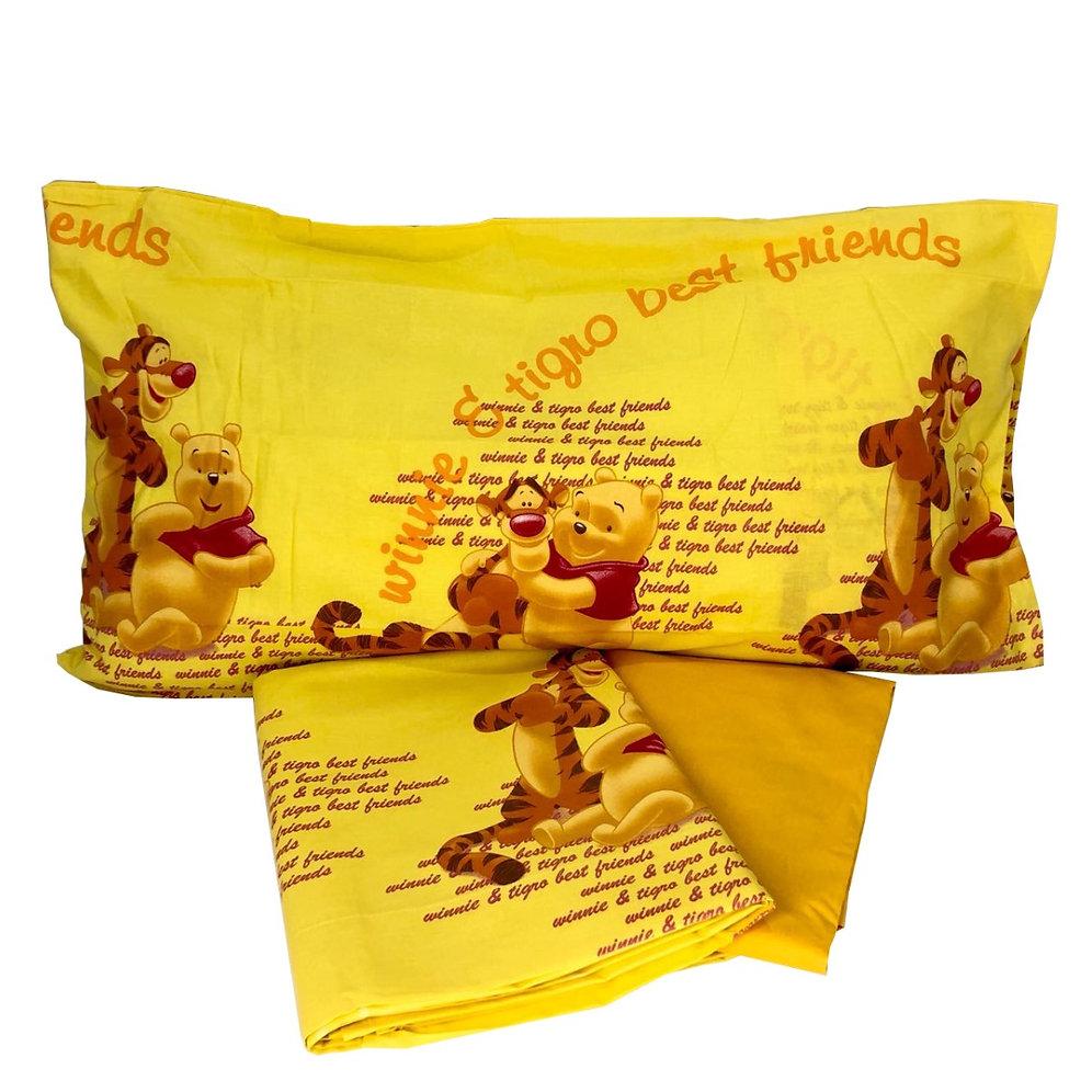 Winnie The Pooh Lenzuola.Completo Lenzuola Letto Caleffi Disney 1 Posto 100 Cotone Winnie The Pooh Bimbi