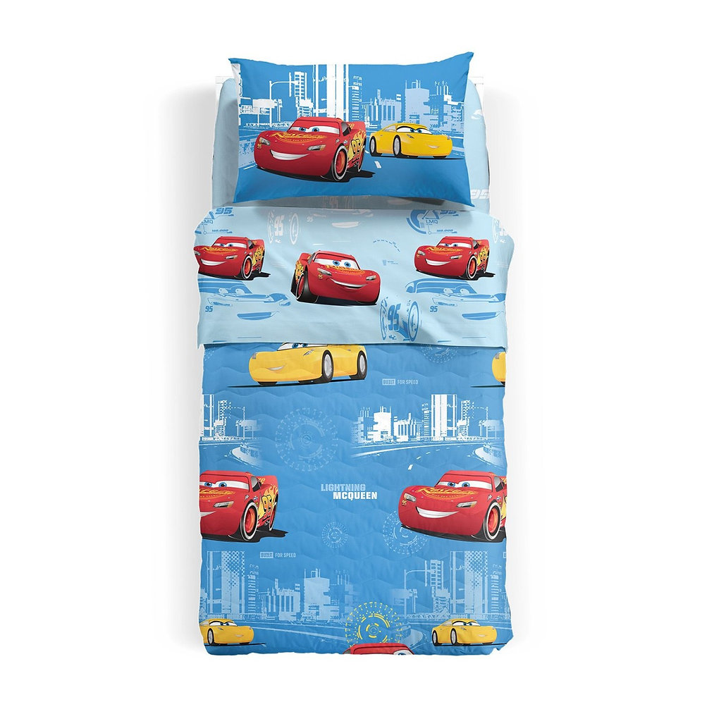 Copriletto Trapuntato Caleffi Disney.Copriletto Trapuntato Caleffi Disney Cars Record 1 Piazza