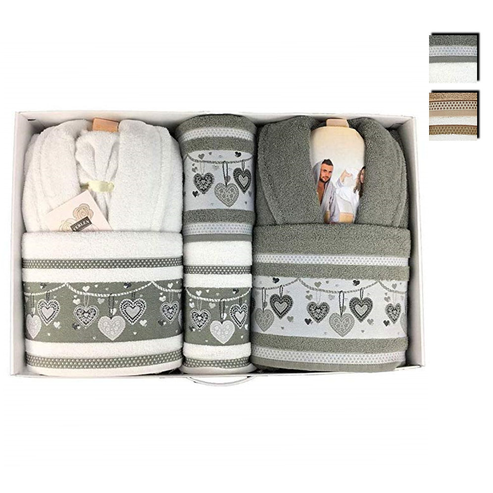 2f2c917024 Completo bagno set asciugamani accappatoi Creazioni Ferlen uomo donna Nepal  0231 | nadahome