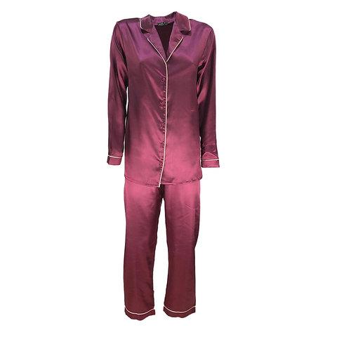 miglior grossista 712da bd54c Pigiama raso donna lungo lingerie Andra camicia da notte in taglie da 2 a 6  0881
