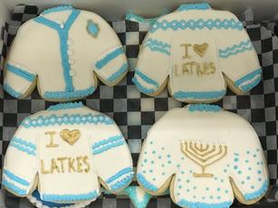 Chanukkah Sweater Cookies