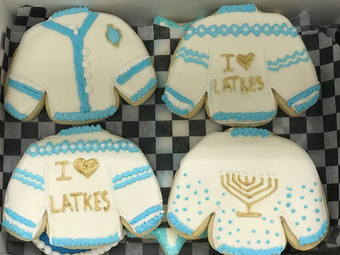 Chanukkah Sweater Cookies