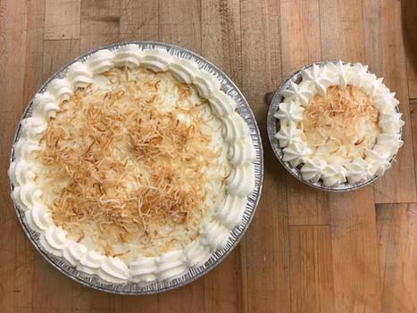 Large and Mini Coconut Cream Pies