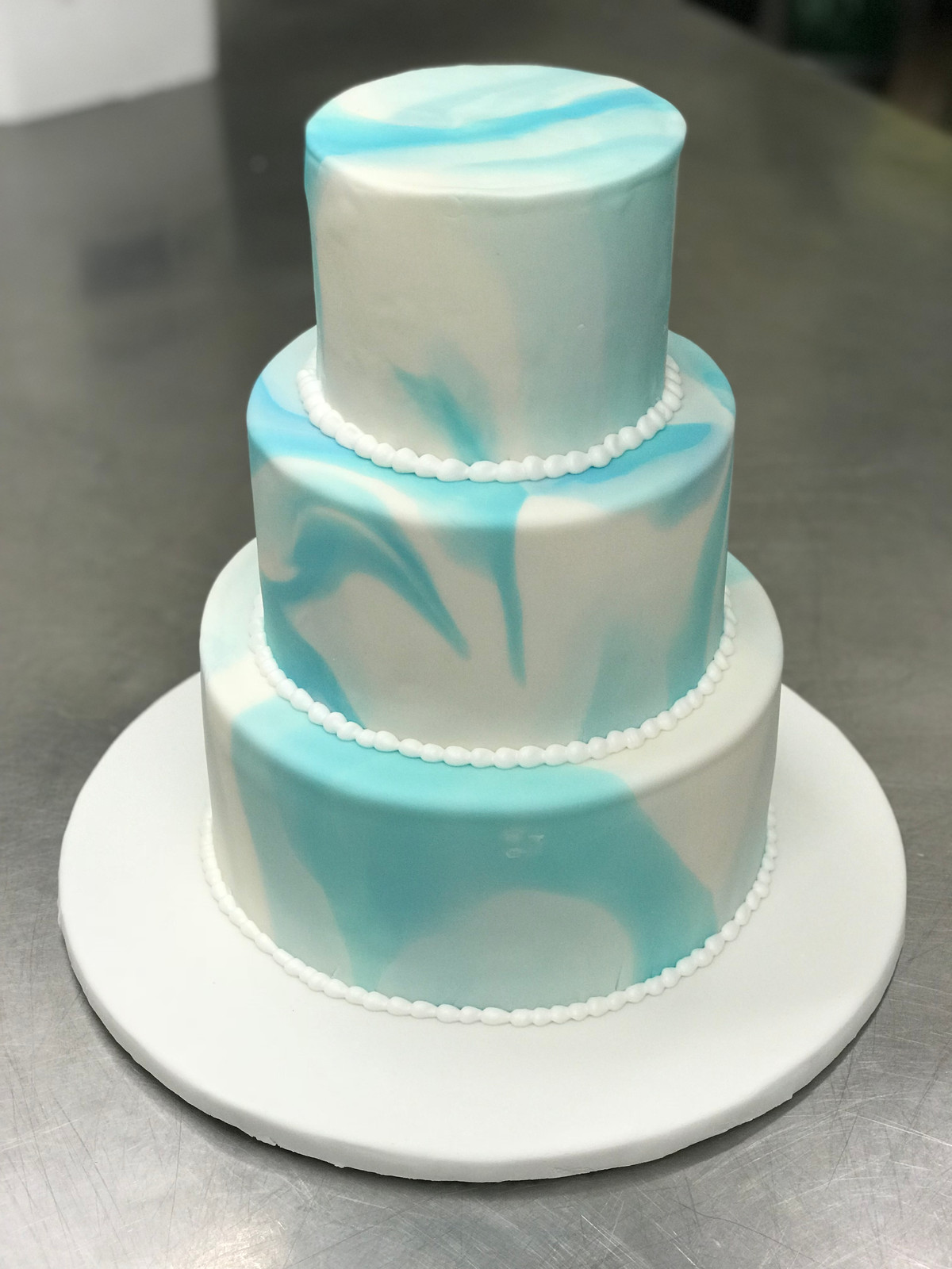 Blue And White Marble Cake