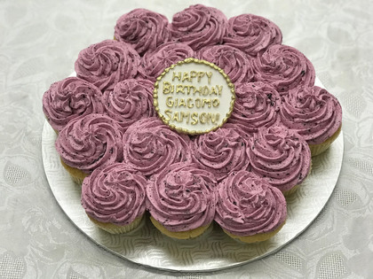 Blueberry Cupcake Platter