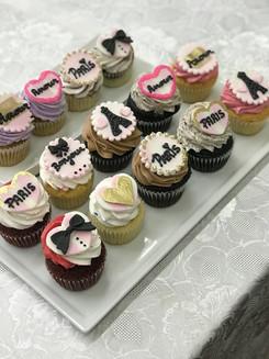 Paris Themed Cupcakes
