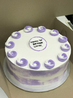 Large Lavender Swirl Cake
