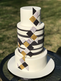 Geometric Tile Cake