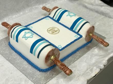 Torah Scroll Cake