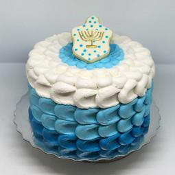 Petal Ombre Chanukkah Cake