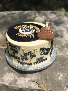 The Beatles Themed Record Cake