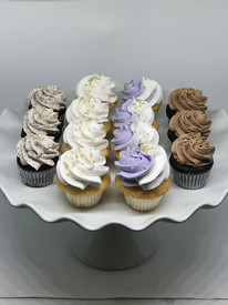Gold-Accented Mini Cupcakes