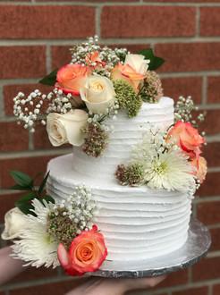 Fresh Floral Wedding Cake
