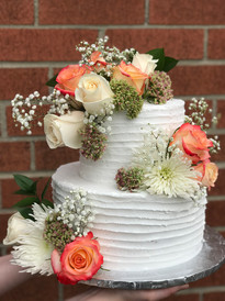 Floral Rustic Wedding Cake