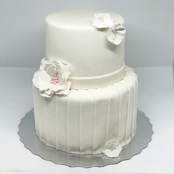 Two-Tier Bridal Shower Cake