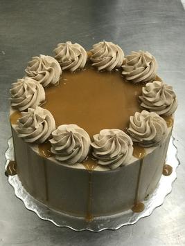 Chocolate and Caramel Drip Cake