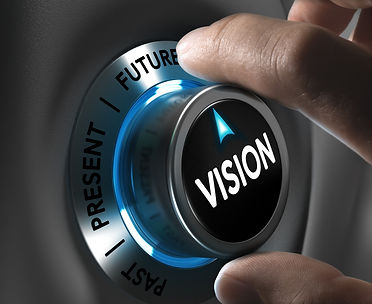 Button vision pointing the future with b