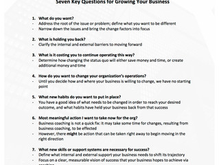 Seven Key Questions to Grow Your Business