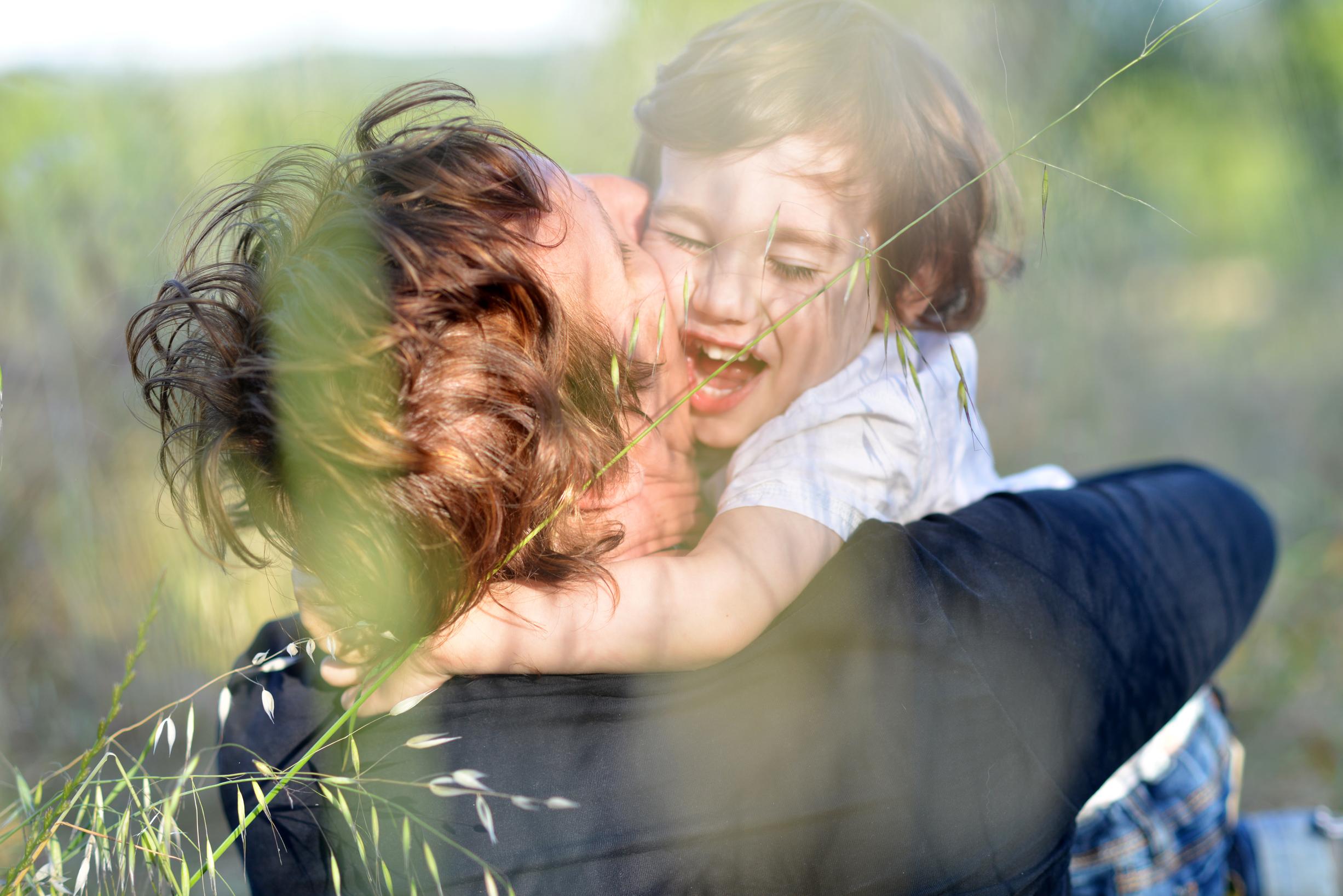 familia en la naturaleza