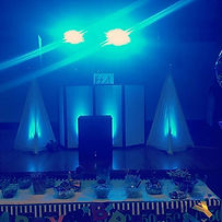 9 Lights, 3 Speakers, Speaker Scrims