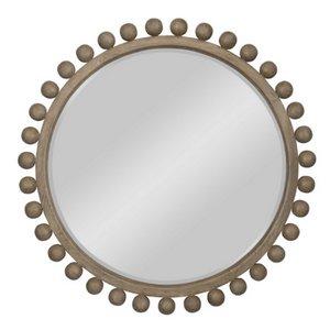 Round Mahogany Mirror