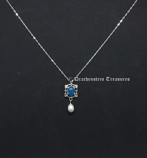 Blue opal pendant rennaissance medieval jewelry drachenstein blue opal pendant mozeypictures Gallery