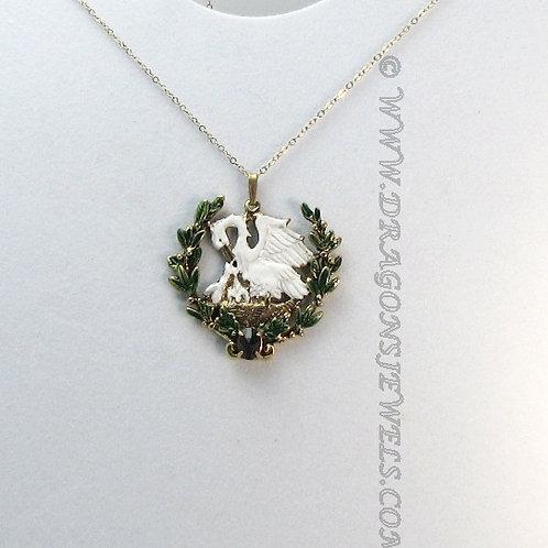 Gemmed Combination Laurel/Pelican in her Piety Medallion